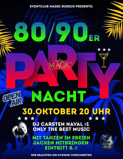 80/90er Party-Nacht: tanzen, tanzen, tanzen